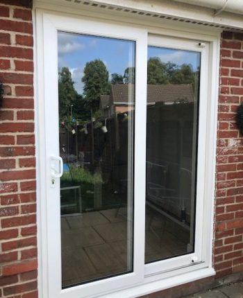 New patio doors in white UPVC