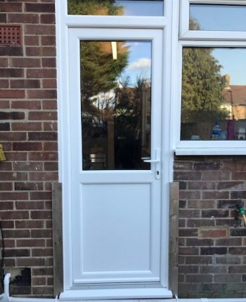New upvc back door and side window