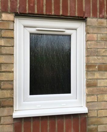 Small UPVC frame fitted